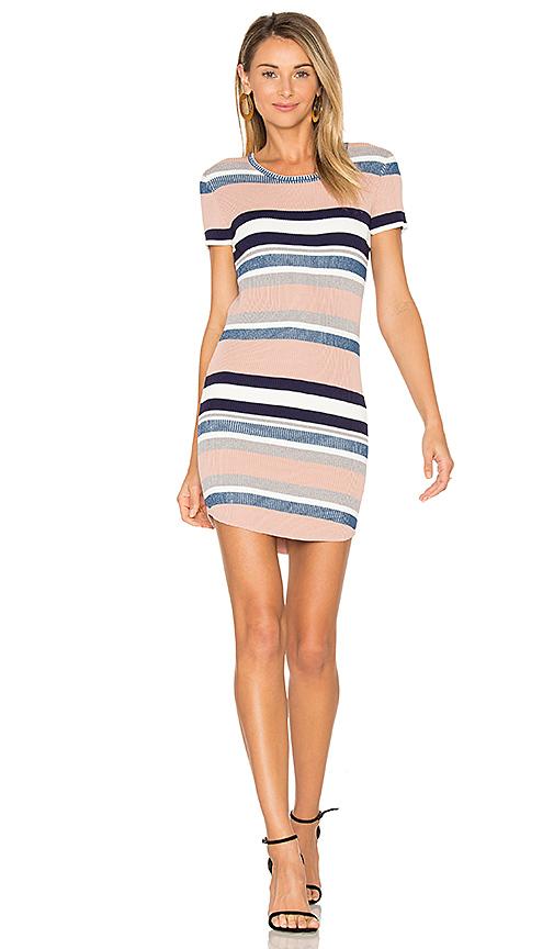 Callahan Stripe Cap Sleeve Dress in Pink