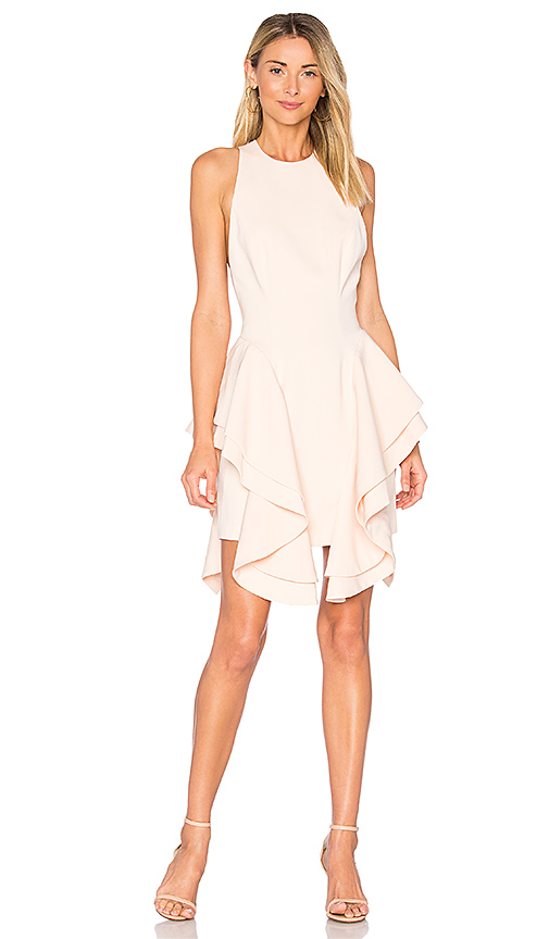 C/MEO Enlighten Mini Dress in Peach