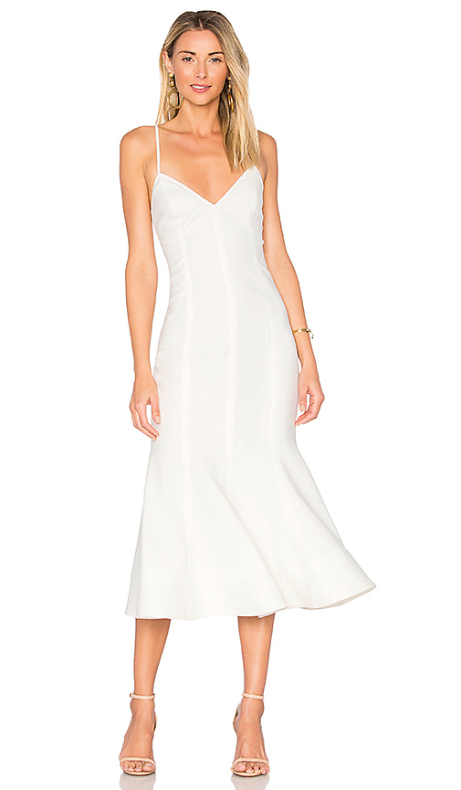 C/MEO Right Now Midi Dress in Ivory