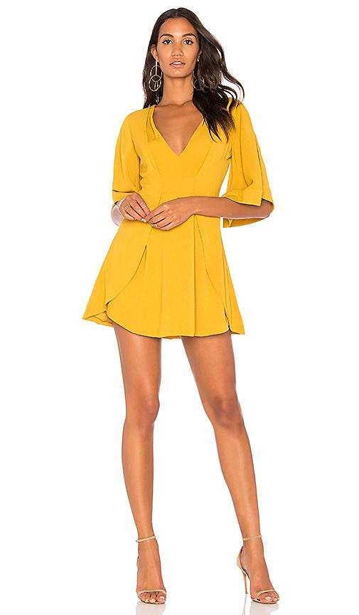 C/MEO Got Me Faded Dress in Mustard