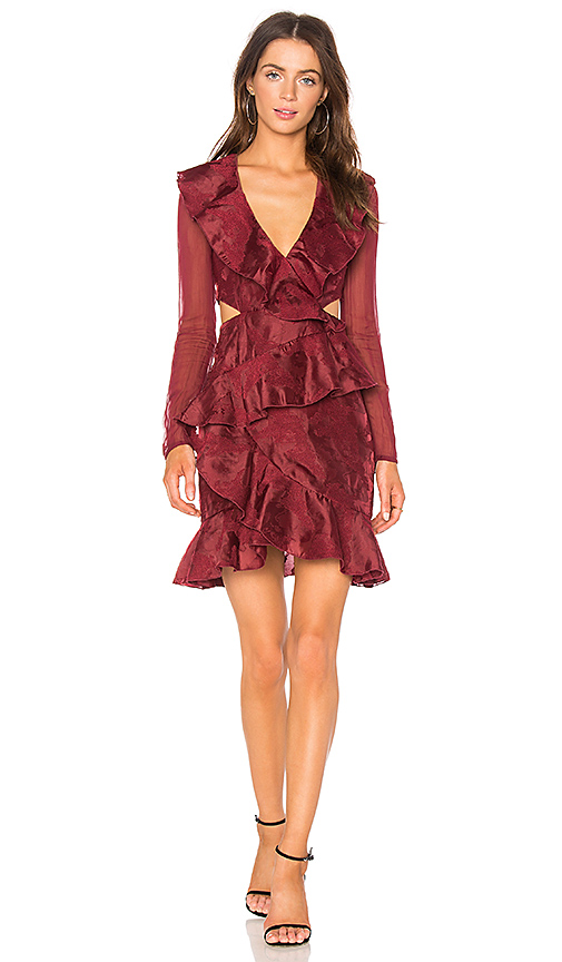 C/MEO Ember Long Sleeve Dress in Red