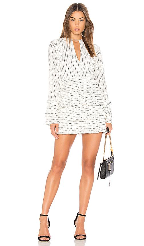 C/MEO Fundament Ruffle Mini Dress in Ivory