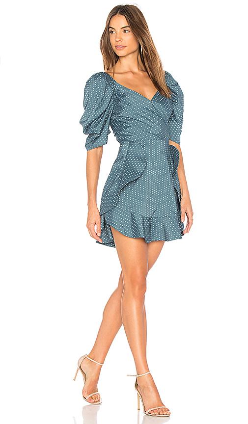 C/MEO Lift Me Mini Dress in Blue