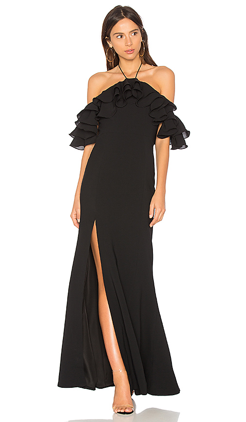 C/MEO Immerse Maxi Dress in Black