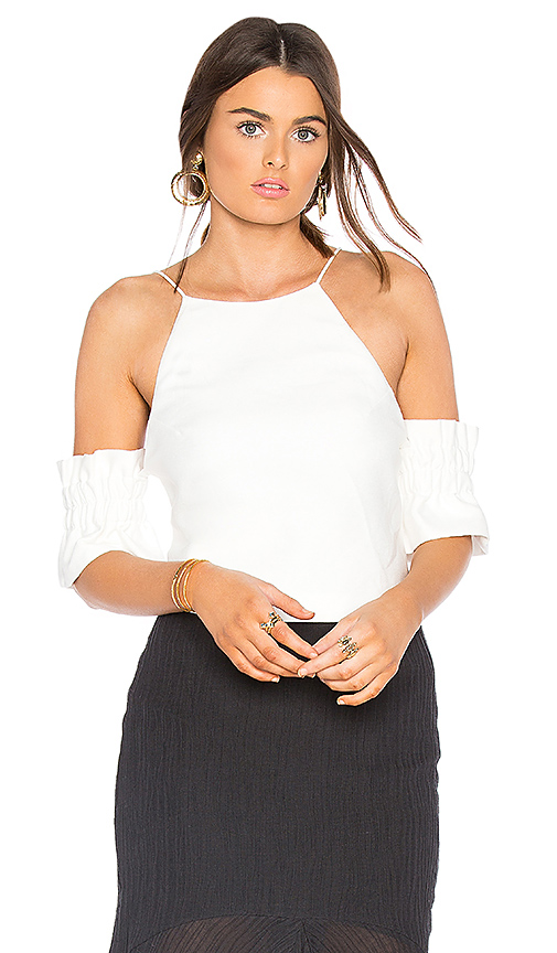 C/MEO Double Take Top in White