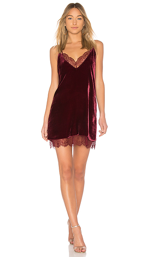 CAMI NYC The Lara Dress in Burgundy
