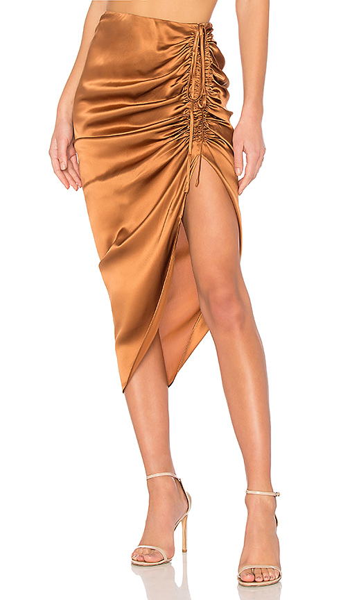 CAMI NYC The Amanda Skirt in Metallic Bronze. - size L (also in M,S,XS)