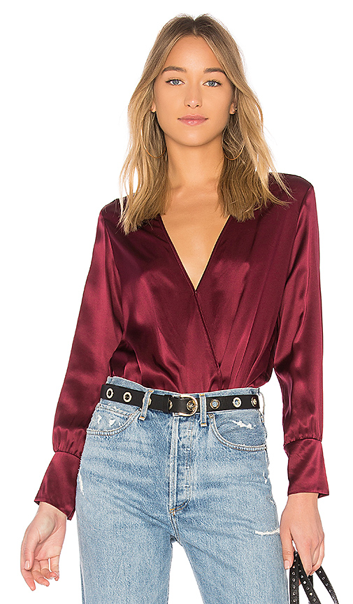 CAMI NYC The Allison Bodysuit in Wine