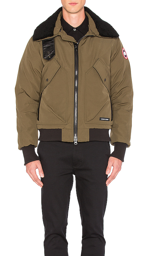 Canada Goose Bromley Shearling Collar Bomber in Green. - size L (also in M,XL)