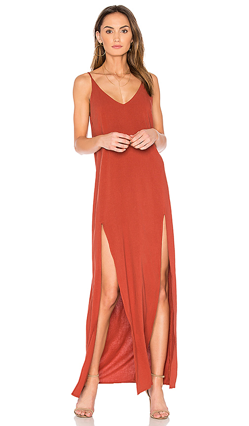Capulet Chiara Maxi Dress in Rust