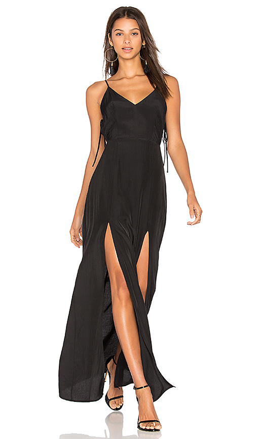 Capulet Gina Plunging Maxi Dress in Black