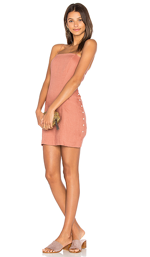 Capulet Amber Mini Dress in Rust