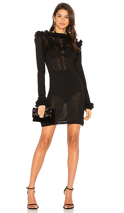 Carolina K Victoria Sweater Dress in Black