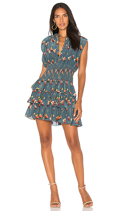 Carolina K Jane Ruffle Dress in Blue