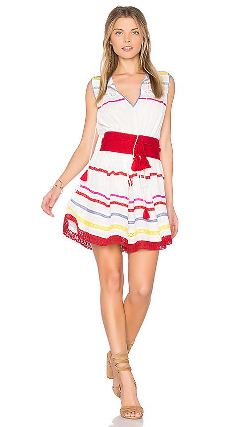 Carolina K Savanna Belted Dress in White