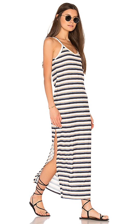 C & C California Freja Maxi Slit Dress in White
