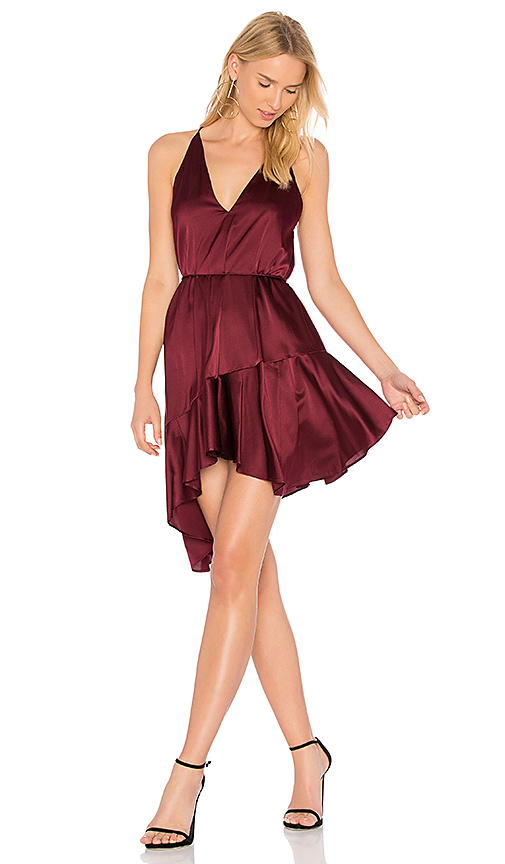 Acler Richie Silk Dress in Burgundy