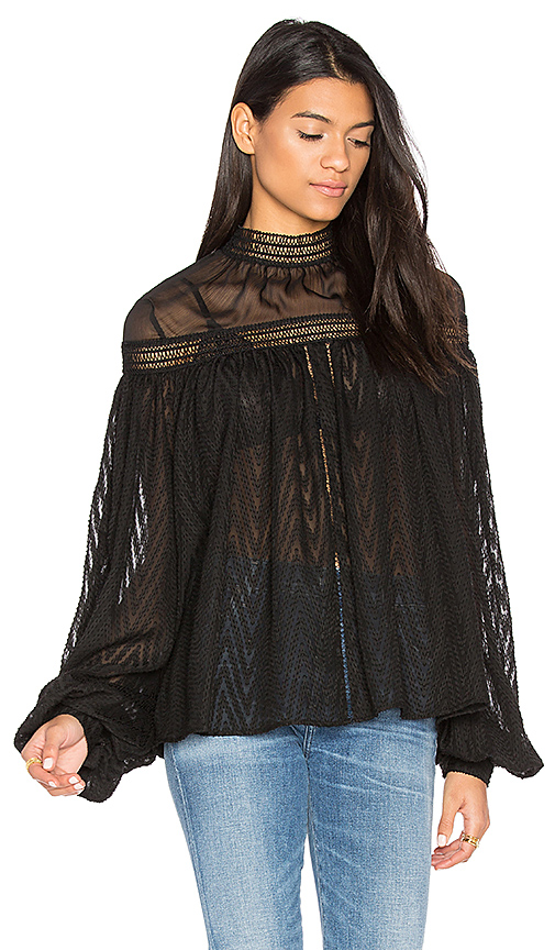 Acler Barton Blouse in Black. - size 2/XS (also in 6/M)