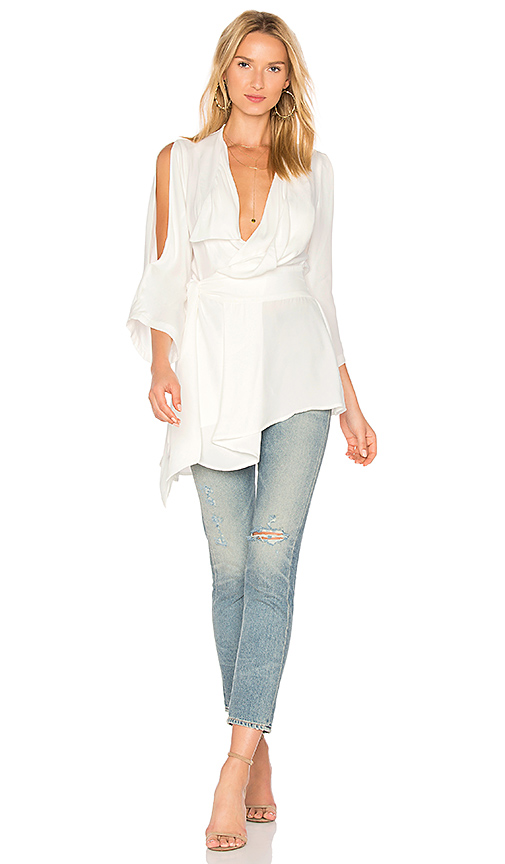 Acler Swindon Top in Ivory. - size 2/XS (also in 4/S)