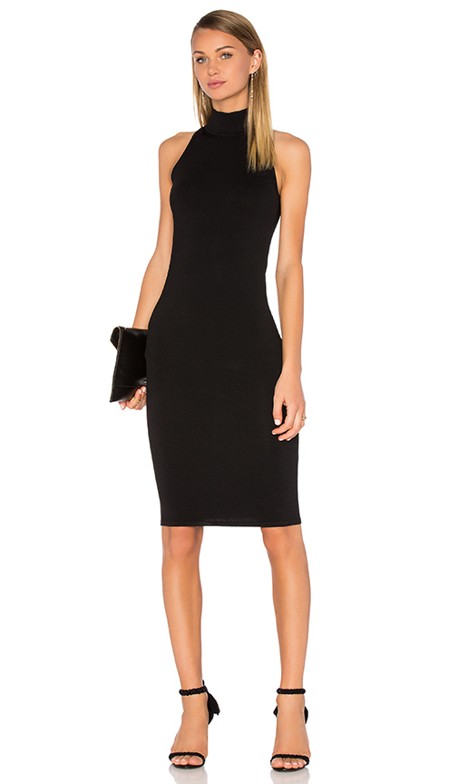 Central Park West Atlantis Knit Dress in Black