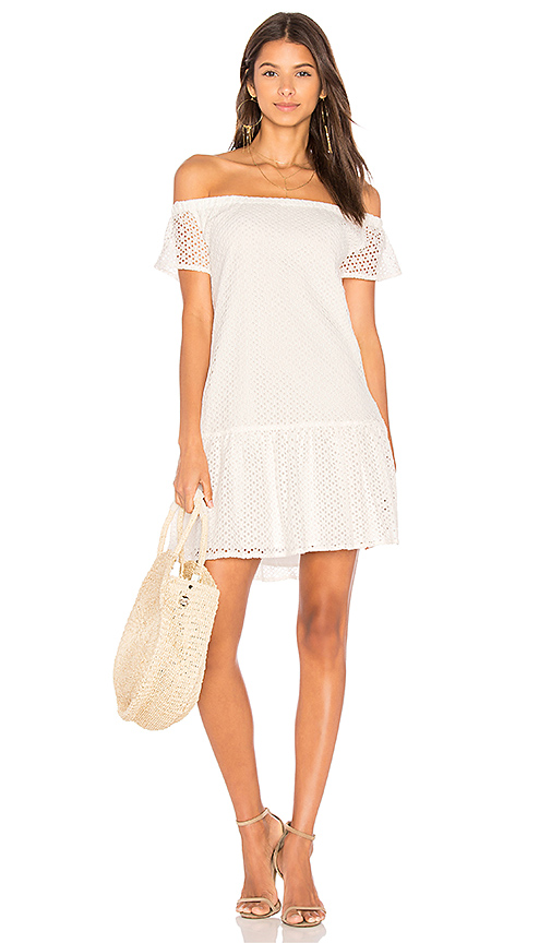 Photo of Central Park West Bristol Off Shoulder Dress in White - shop Central Park West dresses sales