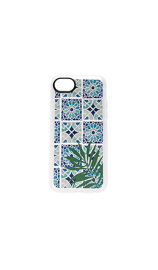 Casetify Tropical Leave Moroccan Tiles iPhone 7 Case in Blue