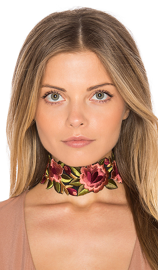 Child of Wild Camilla Floral Choker in Pink