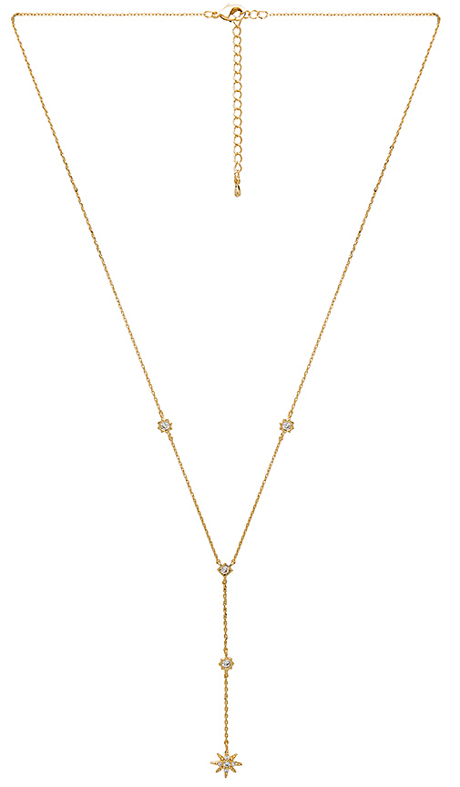 Child of Wild Stardust Lariat Necklace in Metallic Gold