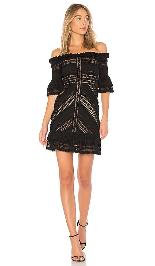 Cinq a Sept Naya Mini Dress in Black