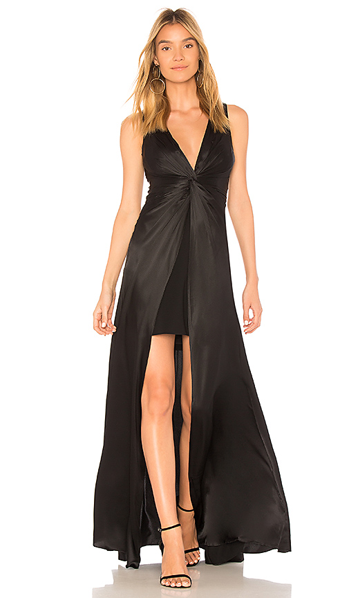 Cinq a Sept Elio Twist Gown in Black