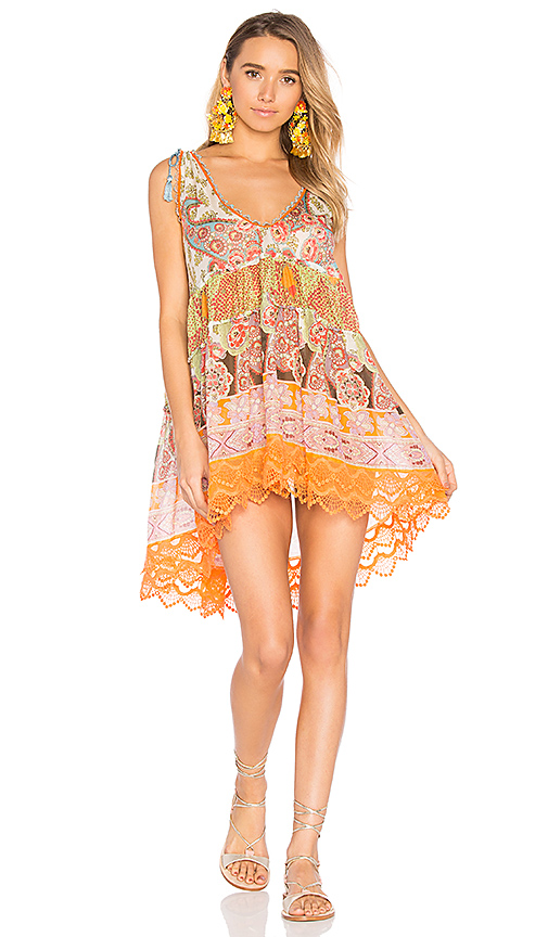 CHIO Patterned Mini Dress in Orange