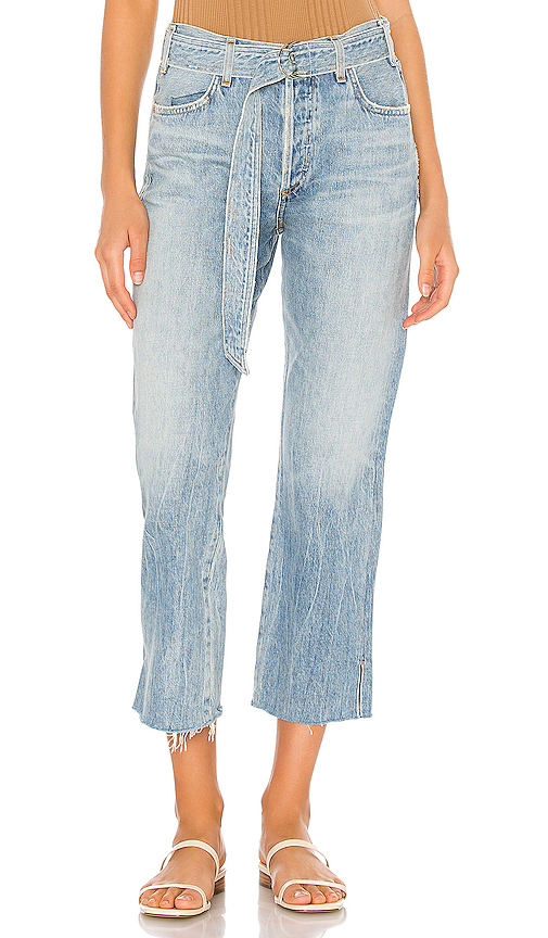 Citizens Of Humanity BELTED EMERY HIGH RISE RELAXED CROP. -