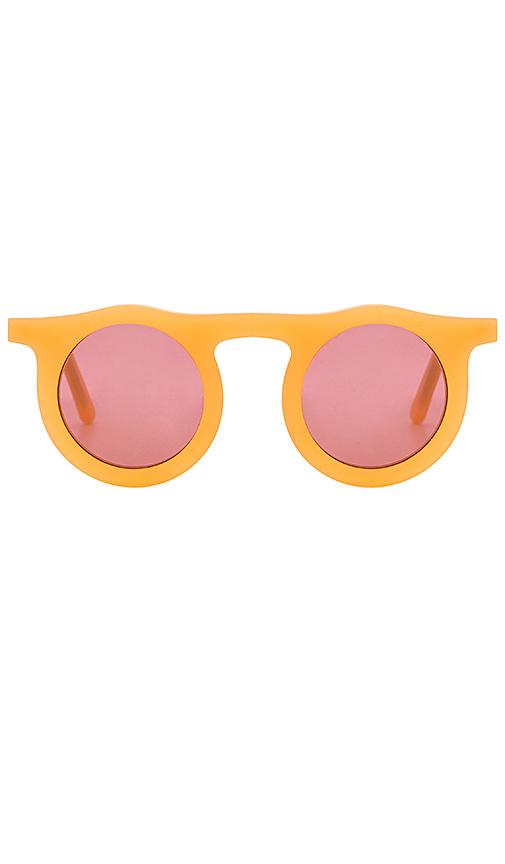Carla Colour Lind Circles Sunglasses in Orange.