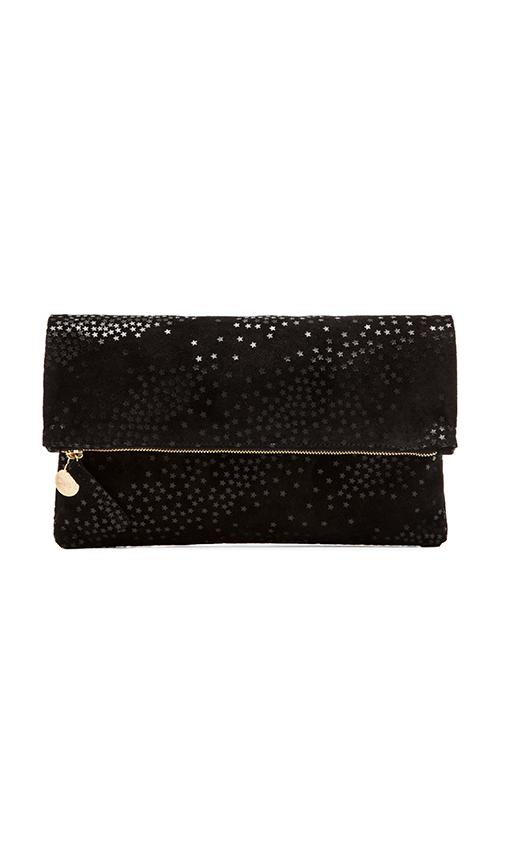 Clare V Foldover Clutch in Black