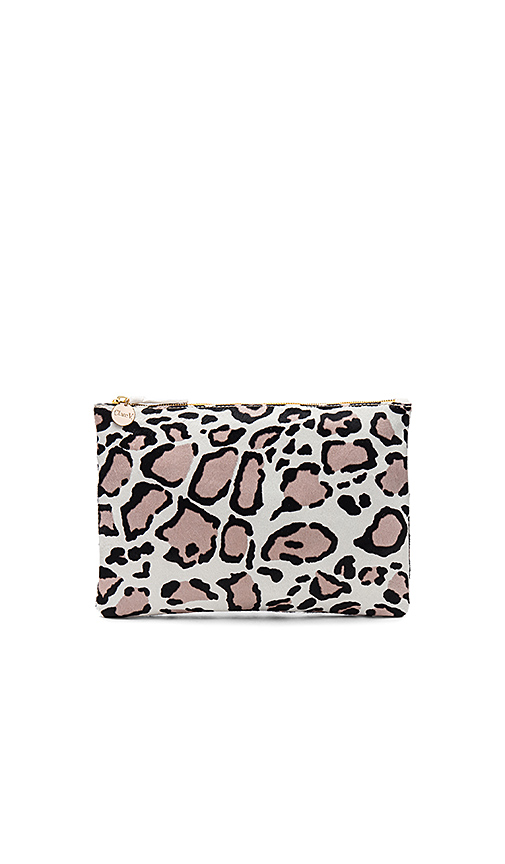 Clare V Hair On Flat Clutch in Beige