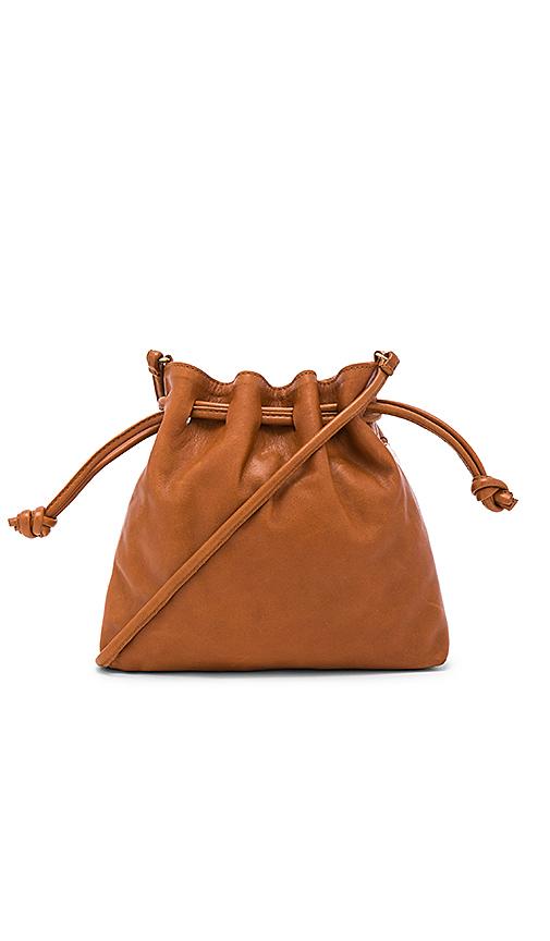 Clare V Henri Maison Petit Bag in Cognac