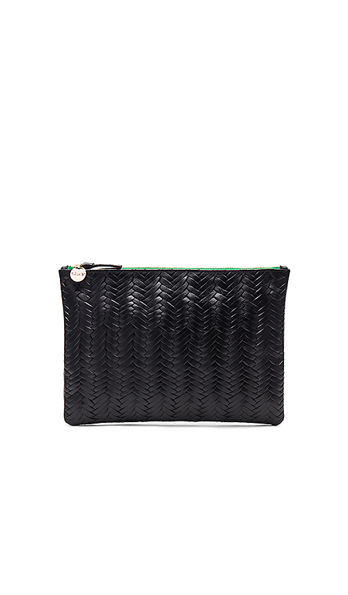 Clare V Flat Clutch in Black
