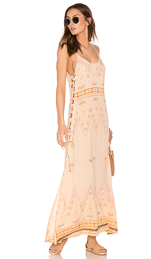 Cleobella Klemence Slip Dress in Peach