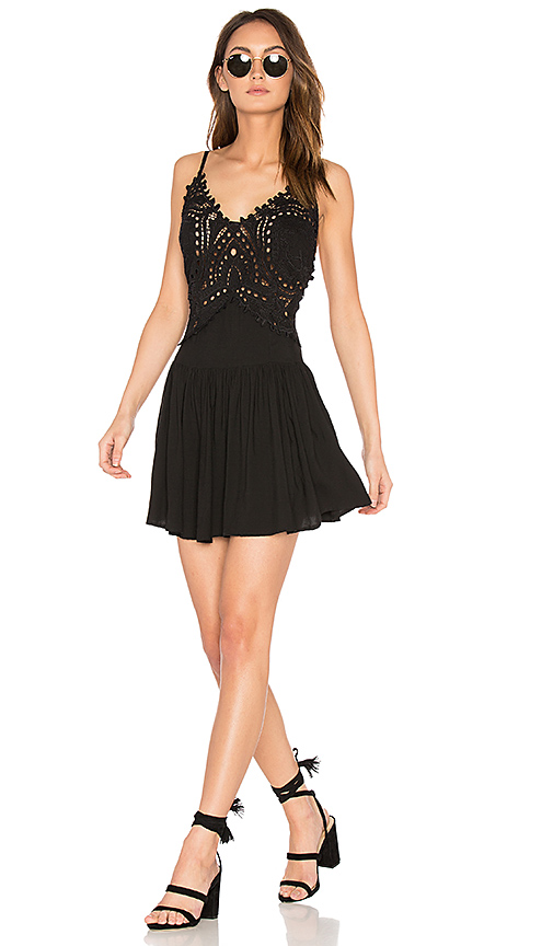 Cleobella Biarritz Short Dress in Black