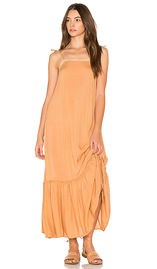 Cleobella Pipa Slip Dress in Orange