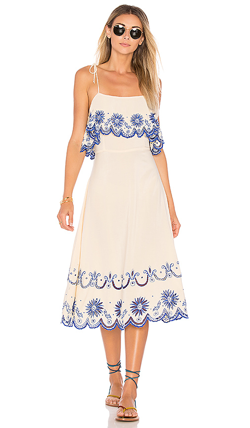 Cleobella Inez Midi Dress in Cream