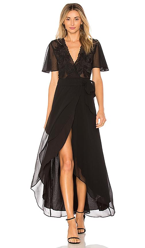 Cleobella Radley Wrap Dress in Black