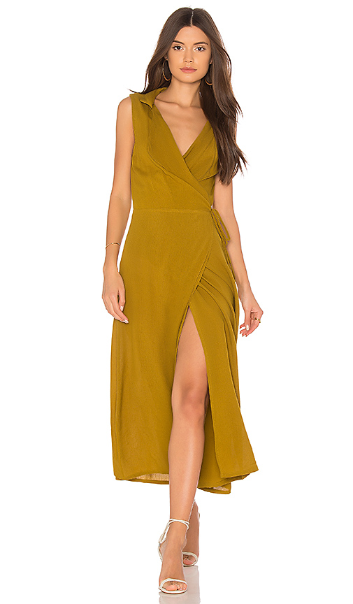 Cleobella Josie Wrap Dress in Sage. - size XS (also in L,M,S)