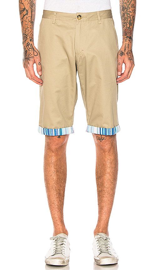CLOT Roll Up Shorts in Brown. - size L (also in M,S,XL)