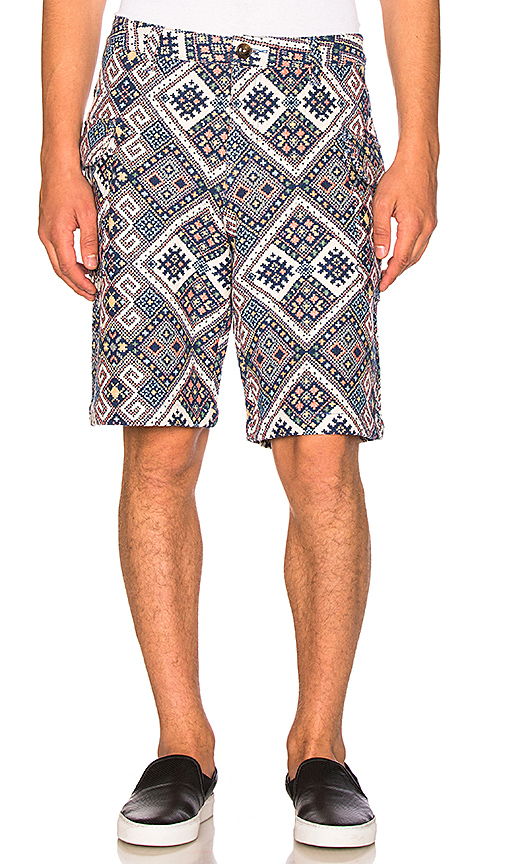 CLOT Ethnic Print Shorts in Blue. - size L (also in M,S,XL)
