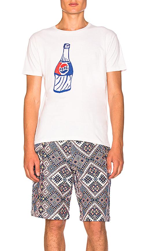 CLOT x Zoe Vance Custom Pepsi Tee in Cream. - size L (also in M,S,XL)