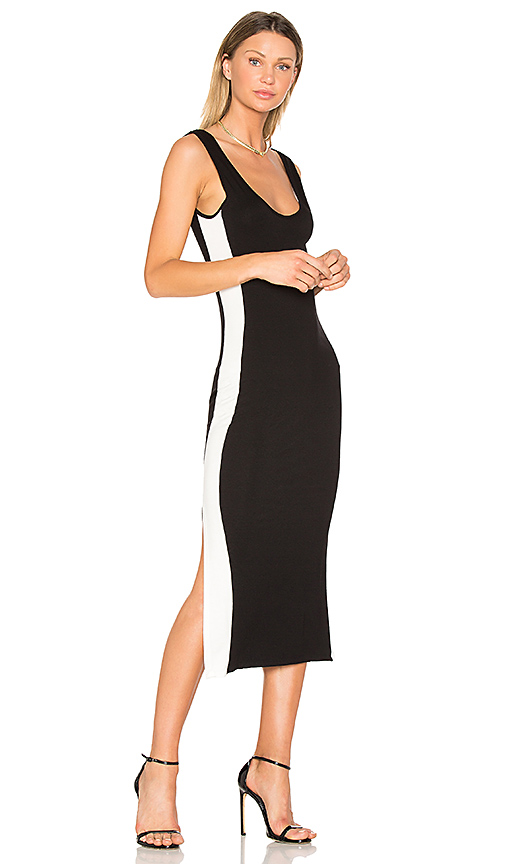 Clayton Tegan Track Dress in Black & White