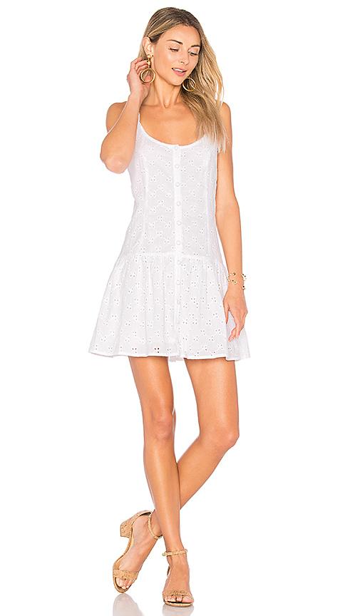 Clayton Vine Eyelet Maddie Dress in White