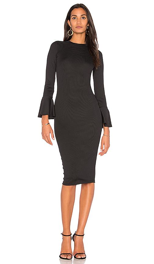 Clayton Booker Ribbed Dress in Black