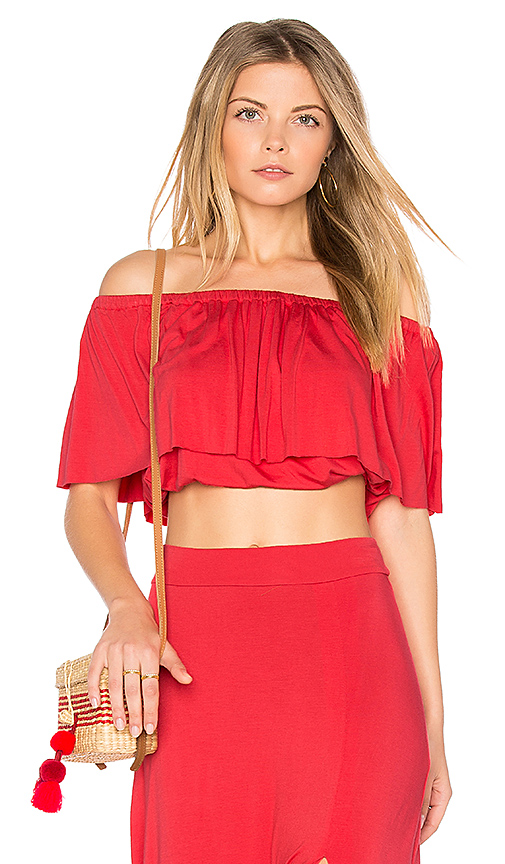 Clayton Molly Top in Red